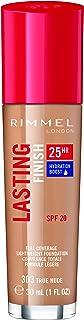 Rimmel London Lasting Finish 25 Hour Foundation with Comfort Serum, 303 True Nude