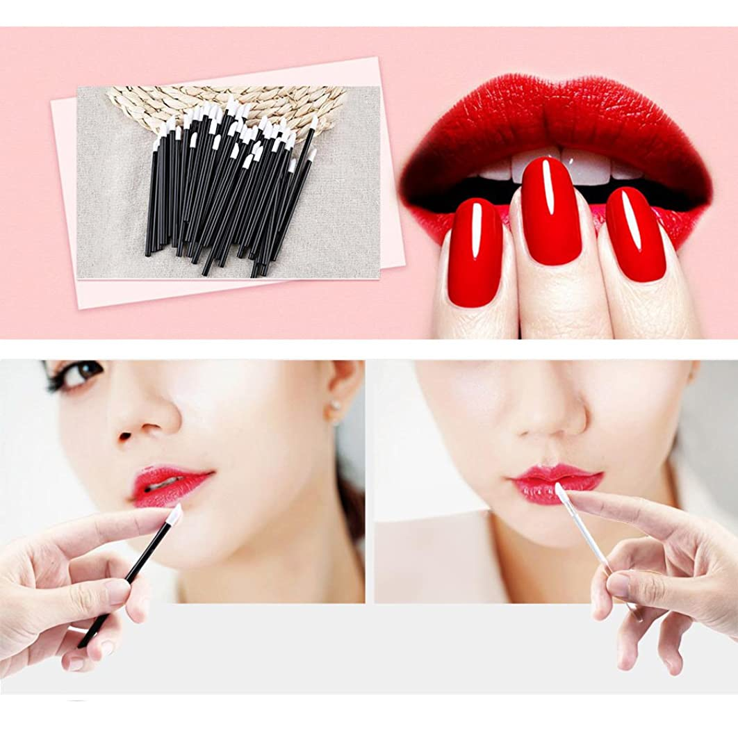 役に立たない地殻姉妹Women Accessories 100 PCS Disposable Lip Brush Wholesale Gloss Wands Applicator Perfect Best Make Up Tool HS