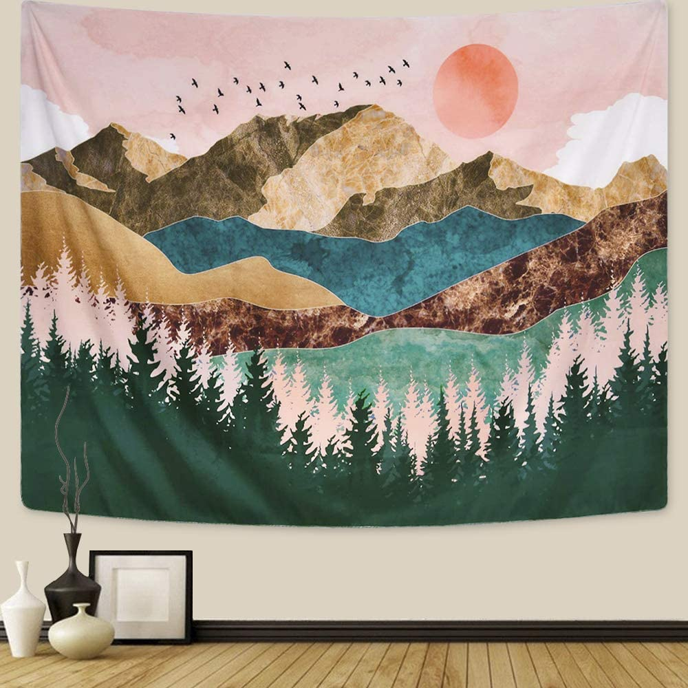 ARFBEAR Mountain Tapestry Forest Tree Hanging Wall Max 61% OFF Tapes Phoenix Mall Popular