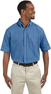 mens Short-Sleeve Denim Shirt (M550S)