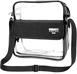 Clear Crossbody NFL, NCAA, BTS, PGA Stadium Approved Shoulder Bag Waterproof Transparent Purse with Adjustable Shoulder Strap