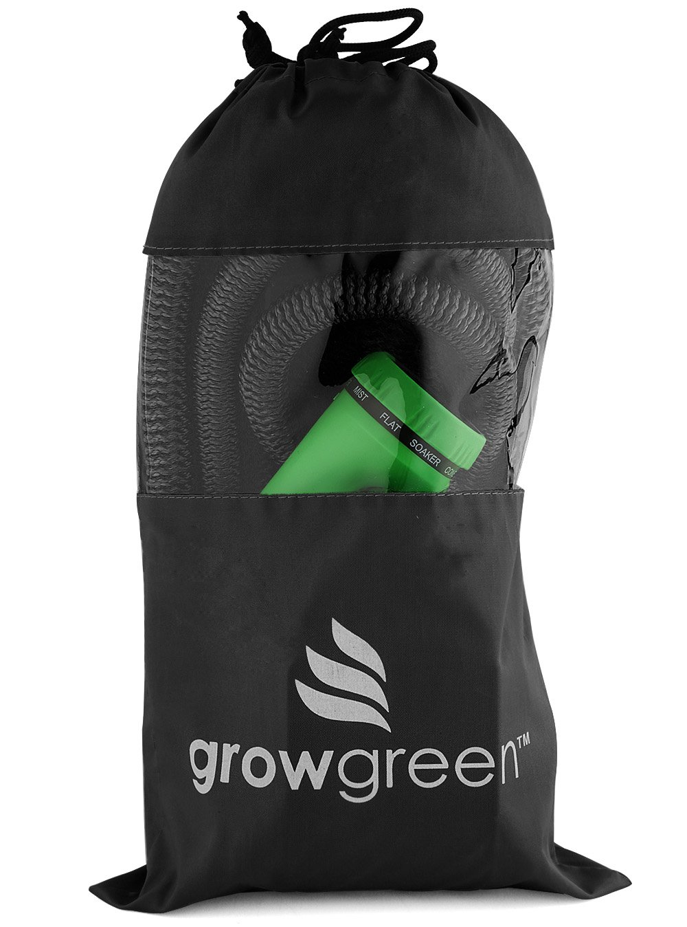 GrowGreen Heavy Duty Expandable Garden Hose, Strongest Garden Hose with Solid Brass Connector, Flexible Water Hose with Storage Sack (50 Feet)