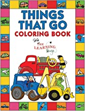 Things That Go Coloring Book with The Learning Bugs: Fun Children's Coloring Book for Toddlers & Kids Ages 3-8 with 50 Pag...