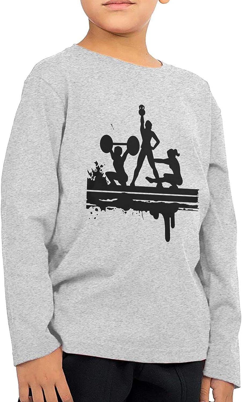Power Gym Boys Long Sleeve Shirts Cotton Sweatshirts Novelty T-Shirt Top Tees 2-6 Years