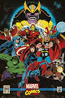 Marvel Comics - Comic Poster (Retro Comic Cover - The Infinity Gauntlet) (Size: 24 inches x 36 inches)