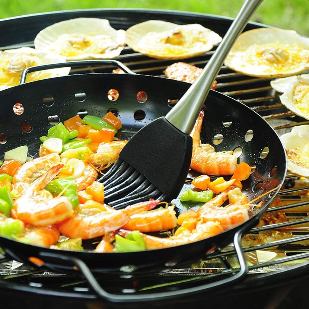 Barbecue Grill Barbecue Grill,Réchaud Circulaire pour Plus de 5 Personnes Courtyard Home Portable Outdoor Charcoal Barbecue Grill @ (Couleur: Noir) Black