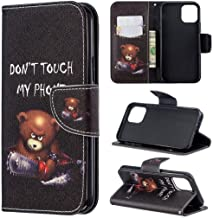 iPhone 11 Case, iYCK Premium PU Leather Flip Folio Magnetic Closure Protective Shell Wallet Case Cover for Apple iPhone 11 6.1 inch 2019 with Kickstand Stand - Electric Saw Bear
