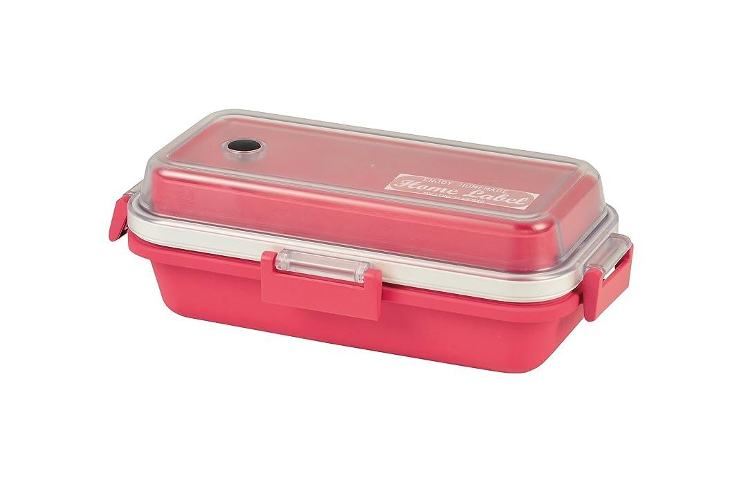 の弱まる申し立てられたパール金属 ランチボックス 弁当箱 Sサイズ 長方形 ピンク 日本製 燕三条製 ホームレーベル D-441