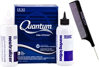 Zotos QUANTUM FIRM OPTIONS Alkaline Perm, FIRM CURLS, for Normal, Resistant or Tinted Hair (with Sleek Steel Pin Tail Comb) Blue Argan-Infused (FIRM OPTIONS/BLUE BOX)