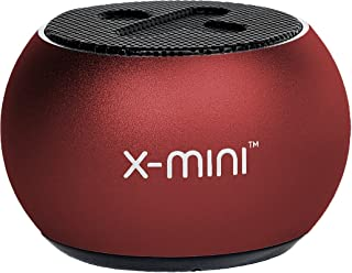 X-mini Click 2 Portable Bluetooth Capsule Speaker, Loud Volume, Wireless, Built in Camera Shutter, Stereo Pairing, Lightweight, for Home/Outdoor/Travel, for iPhone, Android and More (Red)