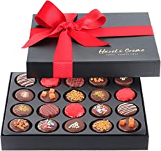 Hazel & Creme Cookies Gift Box - 20 Cookies - Chocolate Cookie Gift Basket - Anniversary, Holiday, Corporate, Birthday Gift