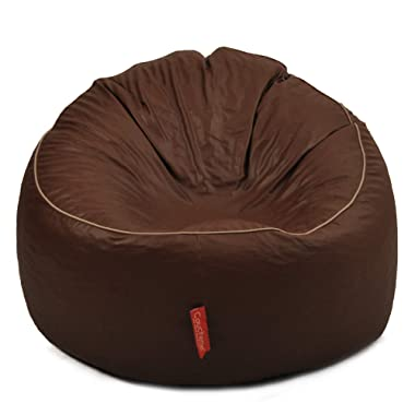 Couchette® Bean Bag XXXL Cool Chair Cover in Dark Brown Finish (Without Fillers)