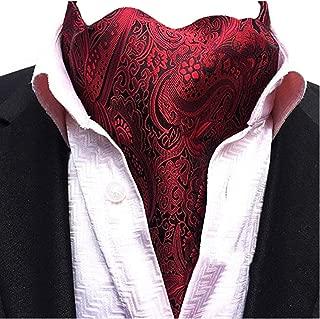 Men's Cravat Jacquard Woven Silk Necktie Scarf Formal Ascot