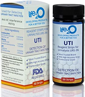 Urinary Tract Infection Test Strips 50ct | 3-in-1 UTI Urine Test Strips for Women & Men | Leukocytes, Nitrite, pH Testing at Home | Medical Grade High Precision | Use UTI Test Kit During UTI Treatment