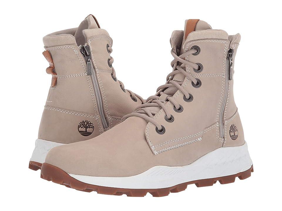 Timberland Brooklyn Side Zip Boot (Light Taupe Nubuck) Men