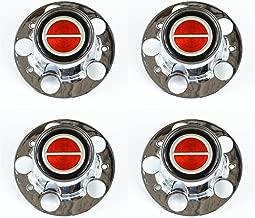 Ford Ranger Bronco II Explorer Chrome Wheel Center Caps Red center set of 4