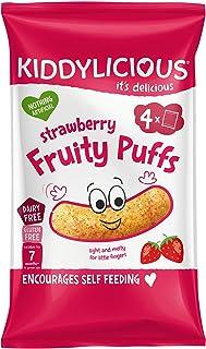 KIDDYLICIOUS Strawberry Fruity Puffs Multi Pack, 4 x 10 gm
