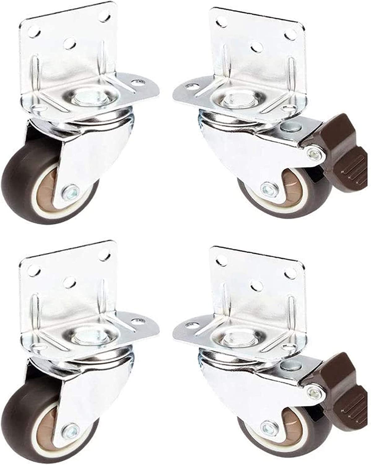 Popular shop is the lowest price challenge ZAMAX Sale SALE% OFF Swivel Caster Wheels 4 Pieces with Without 2 Bra Brake