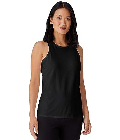 Eileen Fisher Round Neck Slim Tank in Organic Cotton Stretch Jersey