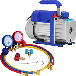 comprar comparacion Mophorn Bomba de Vacío 1.8CFM 1/4HP Bomba de Vacío para Aire Acondicionado Kit de Bomba de Vacío Juego de Manómetros Diagn...