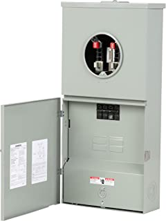 Siemens MC0408B1200T 4 Space 8 Circuit Main Breaker Meter Combination with Ring Type Cover, 200-Amp