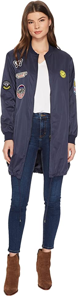 Long Jacket with Patch Detail