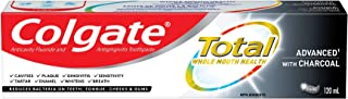 Colgate TOTAL ADVANCED Whitening with Charcoal Toothpaste, 120 Milliliters