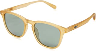 Local Supply Men's CITY Polarized Sunglasses - Dark Green Tint Lens, Frosted Beige Frames