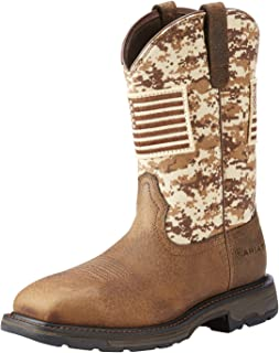 30b7e01ee8532 ARIAT Mens Workhog Patriot Work Boot Western Work 9.5 EE/Wide(Width) Earth