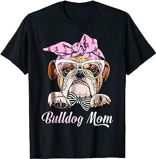Bulldog Mom Dog Life Pink Headband Animal Love Gift T shirt
