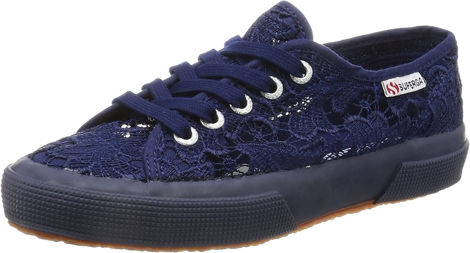 SUPERGA YA0 2750 MACRAMEW 081-NAVY blueE SHOES SNEAKERS LOW SPRING SUMMER 2016 NEW COLLECTION blueE FABRIC