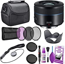 Samsung 45mm f/1.8 2D/3D Telephoto Lens (Black) NX Mount EX-S45ADB/US + Warranty + Cleaning Kit + Case + Accessories Bundle