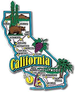 California State Jumbo Map Magnet