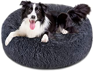 FOCUSPET Dog Bed Donut, Faux FurCuddler Bed Size 30'' for Cats & Dogs Round Ultra Soft WashableSelf Warming Pet Cuddler ...