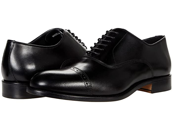 1920s Style Mens Shoes | Peaky Blinders Boots Massimo Matteo Italian Bal Cap Toe $165.00 AT vintagedancer.com