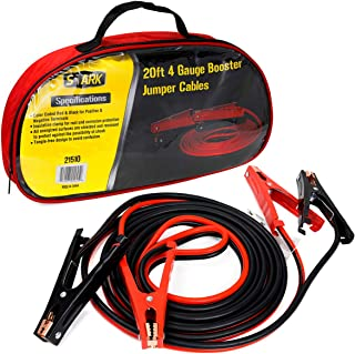 XtremepowerUS Heavy-Duty Auto Jumper Cables 20ft Length Heavy 4-Gauge Wire with Storage Bag