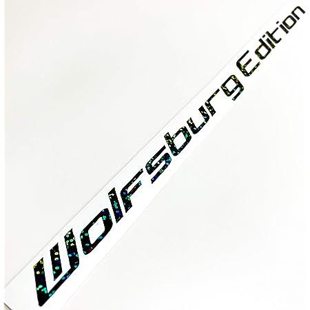 Wolfsburg Edition Aufkleber Holo Slick Oil Glitzer Schwarz Farbauswahl Autoscheibenaufkleber Autodekor Seitenschweller Sticker Cardecal Auto