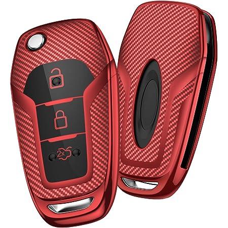 Happyit Abs Carbon Shell Silikon Autoschlüssel Elektronik