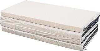 東京西川 四つ折マットレス グレー シングル 凹凸構造 体圧分散 コンパクト 軽量 Afit(アフィット) KD07151400GR