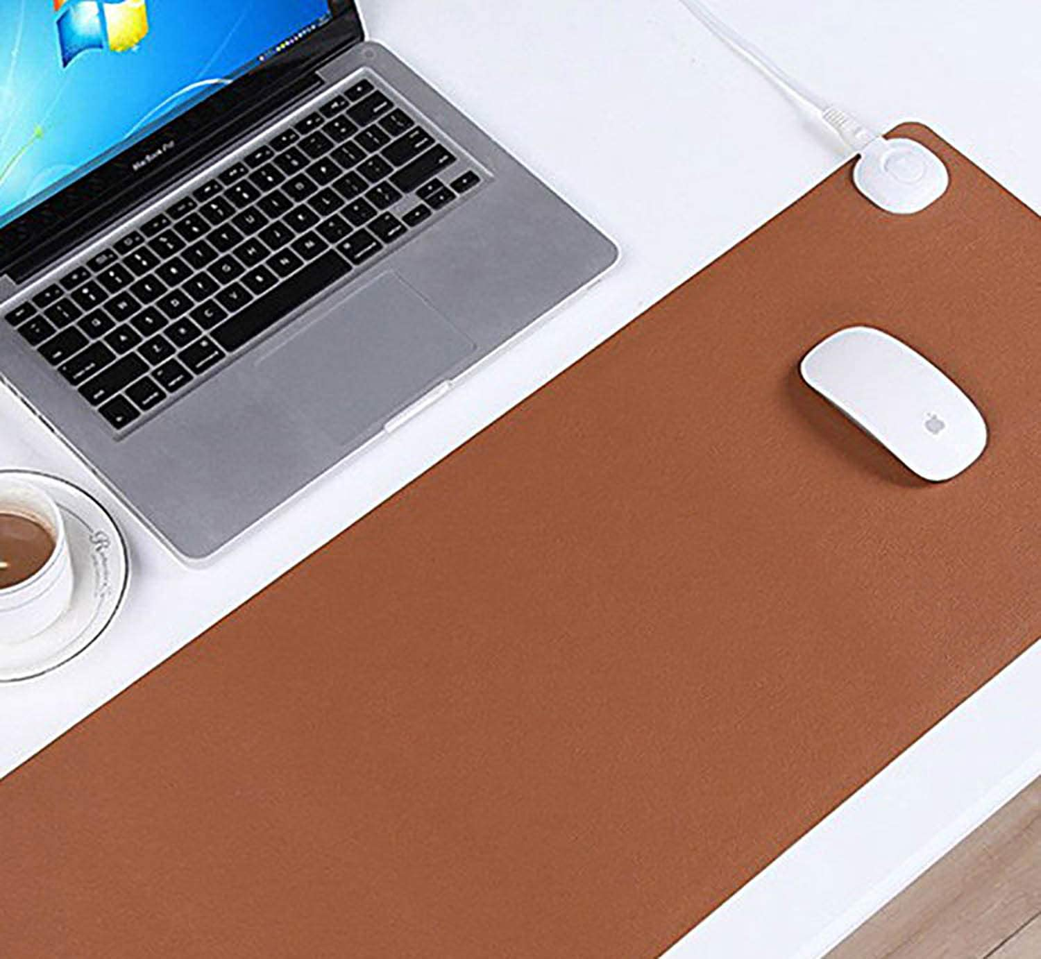 JJdd USB Warm Mouse Pad,USB Heated Mouse Pad,heated Mouse Pad,hand Warmer,oversized Desk Student Dormitory Desk Mat,simple Waterproof And Warm,5-10 Seconds Heating,constant Temperature Chip