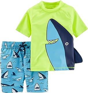 Carter's Baby Boys Rashguard Swim Set, Shark Fin, 3 Months