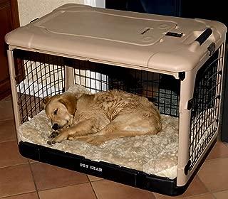 Pet Gear The Other Door Tan & Black Steel Dog Crate