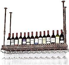 Metalen wijnhouder Opslag Wijnhouder Wijnopslagplank Decoratief wijnrek - Hangende wijnglashouder/Creatieve thuisbar-80 * ...