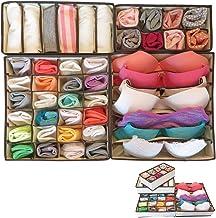 Evelots Foldable-Collapsable Storage Box Drawer Closet Dresser Organizers Beige