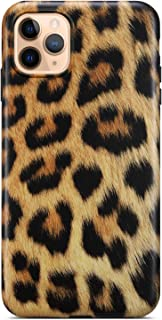 Coolwee iPhone 11 Pro Max Case,iPhone 11 Pro Max Leopard Case Slim Matte Leopard Floral Design Women Girls Silicone Rubber Gel Bumper Soft TPU Cover for Apple iPhone 11 Pro Max Gold