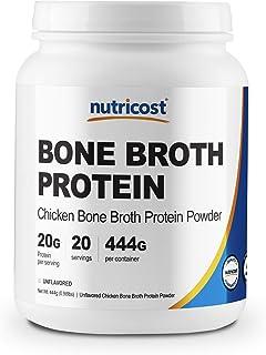 Nutricost Chicken Bone Broth Protein Powder (20 Serv) - Gluten Free & Non-GMO (Unflavored)