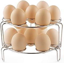 Vookoon Egg Steamer Rack, Stackable Stainless Steel Trivet for Instant Pot, Pressure Cooker 2 Pack