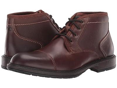 Florsheim Vandall Cap Toe Lace-Up Boot (Cognac Leather) Men