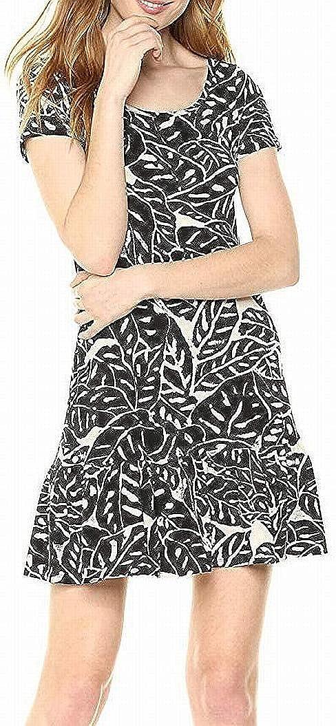 Three Dots Women's Palm Print Short Loose Dress