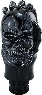 Lunsom Skull Shifter Knob Hand Bone Resin Car Transmission Shifter Stick Handle Head Fit Universal Automatic Manual Vehicle (Black)